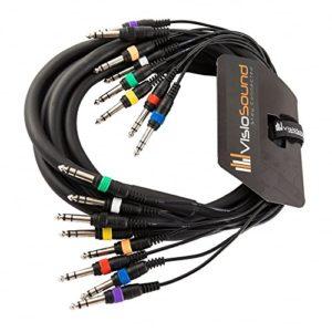 Boucle 8 voies 3m jack stéréo 6,35mm 1/4″ / Boucle équilibrée/Câble multibrins