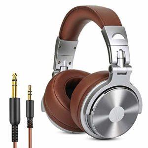Casque DJ Fermé, OneOdio Casque Audio Studio Professionnel, Casque de Monitoring, Casque Circumaural avec Les Haute-Parleurs en Néodyme de 50 mm