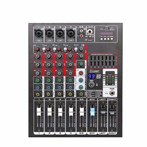 Contrôleur DJ intelligent 4 canaux Console de mixage numérique USB de réverbération de mariage conférence Effets étape support USB / carte SD Mixer Interface USB ( Color : C1 , Size : Onesize )