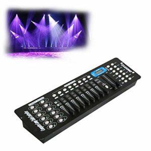 Contrôleur DMX 192 canaux DMX 512 – Console de contrôle de la lumière – Opérateur DJ – Equippment pour lampe de scène
