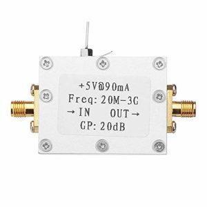Dasing Amplificateur à Faible Bruit Amplificateur de Bruit 20DB LNA à Gain éLevé 0,02 à 3 GHz Bande Passante RF Amplificateur de Puissance Module Radio FréQuence Radio