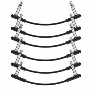 Donner Câble Patch Jack-Jack Mono 15cm/30cm pour Pédales d'effet (set de 6, 15 cm)