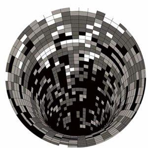DTNSSTB Tapis 3D, Le Plus Récent Tapis 3D Vortex, Tapis Rond en Spirale Noir Blanc pour La Chambre des Enfants, La Maternelle, Le Salon