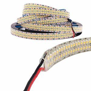 Éclair ledaddpip64bc bande LED haute puissance 38.4W/MT alimentation 24V DC 3020LM lumière chaude 3000° k cRI > 80Ra ouverture 120° Degré IP 64Finition blanc