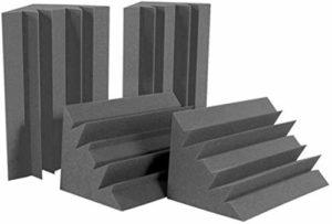 Éponge Basse Noire 12 pièces Le Mur d'angle, éponge Studio insonorisante la réduction du Bruit, Travail
