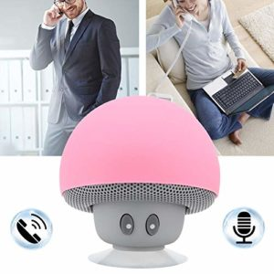 Haut-Parleur sans Fil, Haut-Parleur de Musique, Charge USB Portable Aspect Mignon de Champignon 200mA pour Les familles