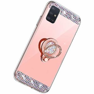 Herbests Compatible m Samsung Galaxy A51 Or rose.