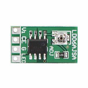 iFCOW Buck Boost Converter Display DROK Buck-Boost Board DC 3.3V 3.7V 5V LED Driver 30-1500mA pour LED 18650 Li-ion