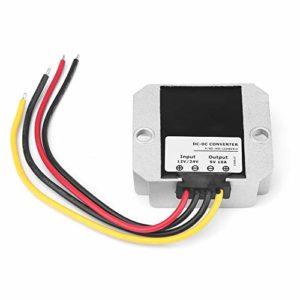 iFCOW Buck Convertisseur de puissance de convertisseur de puissance DC12V/24V à 5V 10A 50W Step Down Convertisseur Convertisseur de tension Buck Module de régulateur de tension étanche IP68