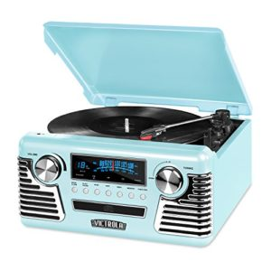 Innovative Technology Victrola Retro Record Player Teal