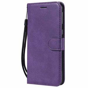 Jeewi Coque pour Galaxy M20 Prime PU Cuir Flip Folio Housse Étui Cover Case Wallet Portefeuille Support Dragonne Fermeture Magnétique pour Samsung Galaxy M20 – JEKT050458 Violet