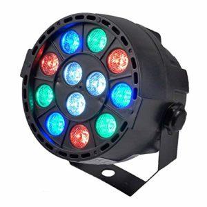 Jeu de lumière PAR MINI avec batterie rechargeable à LEDs RGBW 12X3W DMX + fixation