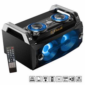 Jeux de lumière + Enceinte BOOST Sono 140w Design Bluetooth Usb Batterie PA DJ bar club cadeau Noël anniversaire fiesta dance