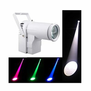 Led Pinspot,DMX 12w Full Color RGBW 4IN1 Led Spot Light, Use For Mirror Ball, Window Display In Boutique, Disco, Ballroom, KTV, Bar,Club, Party, Wedding (EU Plug)