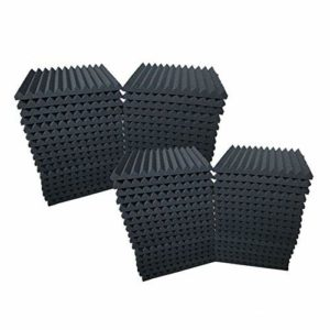 Lot de 48 Panneau de mousse acoustique Wedge Studio Isolation phonique murale Carreaux 30,5 x 30,5 x 2,5 cm