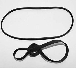 L-Yune,bolt 2Pieces Fold Longueur: 185 mm Largeur: 4 mm Epaisseur: 0,6 mm Ouvre Disque phonographe Audio Transmission par Courroie Courroie Plate