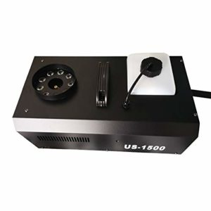 Machine à fumée pour fêtes, bandes et spectacles, 1500 W 3 en 1 RVB 9 LED, avec télécommande