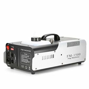 Machine à fumée sans fil Fog Machine 1500 W 3 en 1 RVB LED pour Halloween, Noël, mariages, spectacles sur scène.