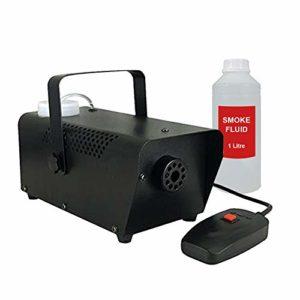 Machine à fumer 400 W Brouillard effet discothèque Halloween avec 1 L de liquide