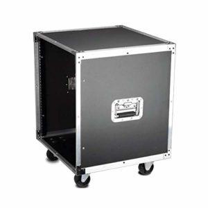 MEEY Studio Rack Équipement Universel Roulant Cabinet Rack, Support avec Verrouillage roulettes Accessoires for matériels de Musique Opéré (Color : 12u, Size : No Metal partitions)