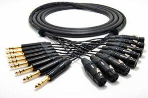 Mogami 2932 8 Multipaire Câble analogique studio | Neutrik Gold XLR femelle – 6,3mm TRS | HiFi – 1,5 m