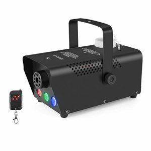 MVPower Machine à Fumée, 500W Machine à Brouillard avec Télécommande sans Fil, 7 lumières colorées, Idéal pour les Fêtes, les Discos DJ, les Bars, les Mariages, les Défilés et les Théâtrales