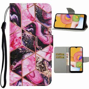 Nadoli Flip Housse pour Samsung Galaxy S10 Plus,Créatif Violet Marbre Modèle Magnétique Fonction de Support Coque Étui Portefeuille en Cuir avec Fentes pour Cartes
