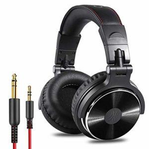 OneOdio Ecouteurs pour Les Oreilles, Casque DJ Studio fermé, sans Adaptateur, Ecouteurs avec câble Isolant Contre Le Bruit (satiné)