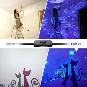 Onforu 24W UV LED Barre, Tube Lumière Noire, 48 LEDs Violet, Lumières Violette DJ Disco, Lampe UV 220V, Eclairage de Scène pour Soirée du Maquillage Fluo, Peinture Corporelle, Mariage