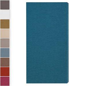 Panneau acoustique»Brushed Pro M»: 116 * 58 * 6.5cm, Bleu, HOUSSE DOUBLE: LAVABLE