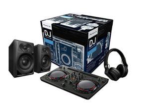 Pioneer DJ–Starter Kit pour DJ (incl. ddj-wego4Noir, 2x dm-40, hdj-700Noir)