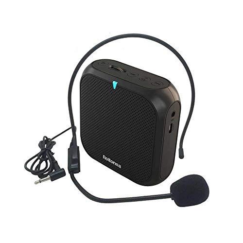 Portable Voix Amplificateur,Mégaphone Amplificateur Avec Câblé Microphone Haut-Parleur Haut Parleur Radio Fm MP3 pour Usage En Coaching Presenting Entraînement Teaching Beaucoup Personnes Grand