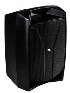 Proel V10WAVE – Haut-parleur moniteur audio professionnel actif à 2 voies 600 W + mixeur à 3 canaux et lecteur multimédia Noir