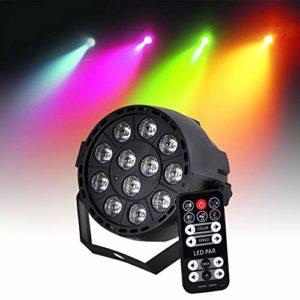 Projecteur avec batterie rechargeable PAR à LEDs RGB3 12X3W 3-en-1 DMX Strobe IBIZA LIGHT