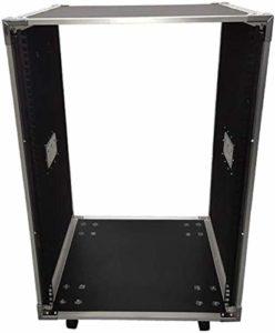 Rackmount boîtier en Aluminium Portable Mixer Route avec Verrouillage roulettes Équipement Universel Rack, Support (Size : 16U)