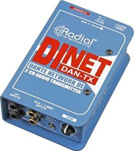 Radial DiNET DAN-TX 2 canaux Dante