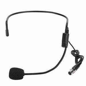 Redxiao Mini tête Portant Le Microphone de tête, Microphone amplificateur de Microphone amplificateur, pour Les opérateurs téléphoniques Sportifs de Performance