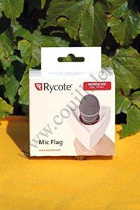Rycote 107301 Support publicitaire carré pour Micro – noir
