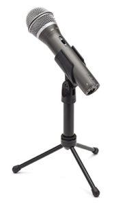 Samson Q2U Microphone Dynamique USB/XLR pour Maison, Studio, Mobile et Enregistrement scénique Noir