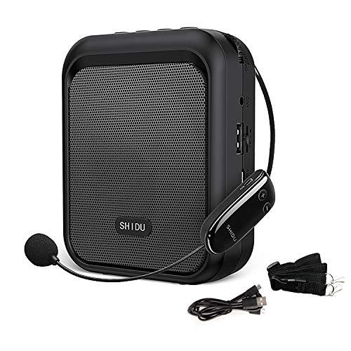 SHIDU mini haut-parleur Bluetooth portable amplificateur vocal avec écouteur sans fil UHF système de sonorisation 10W 1800mAh, chanteur, entraîneur, formation, guide touristique