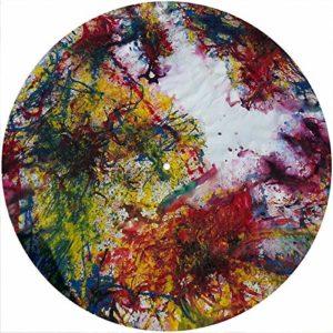 Slipmat Tapis antidérapant en feutre pour platine vinyle LP DJ 30,5 cm Motif peinture 9