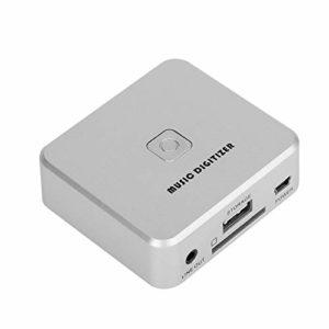 Socobeta Numériseur MP3 Durable Boîte de Capture Audio Numériseur de Musique Enregistrement Audio Portable avec Prise en Charge de la télécommande Carte SD de Disque U
