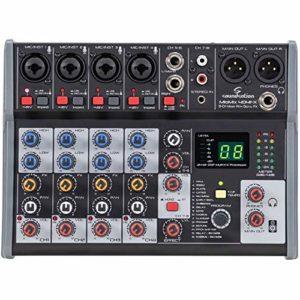 Soundsation MIOMIX 404FX Mixeur à 8 canaux avec multi-effet numérique