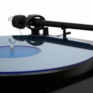 Tapis de Table tournante en Acrylique Hudson Hi-Fi – BlueLit – LP Slipmat