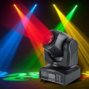 wosume Lumière Principale Mobile Manuelle d'étape, lumière LED de Partie Disco, Mariages pour l'étape de pub Disco