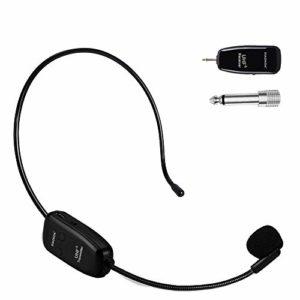 XIAOKOA Microphone Sans fil,UHF Wireless Microphone,50 Mètres De Transmission Stable Sans fil,pour Amplificateur de Voix / Amplificateurs Haute Puissance / Haut-parleurs