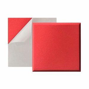 XIN CHANG LWH Isolation Acoustique Coton, Panneaux acoustiques Nosie Acoustiques Traitements Mousse Acoustique Mousse Acoustique Panneau Tiles Basse Piège, 10pcs 50 * 50 * 5cm (Color : Red)