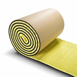 XIN CHANG LWH Panneaux acoustiques, Isolation Acoustique Coton Home Studio Isolation Acoustique Tapis insonorisant Panneau Mural Coton Carreaux Ignifuge, 1 mètre carré (Color : Yellow)