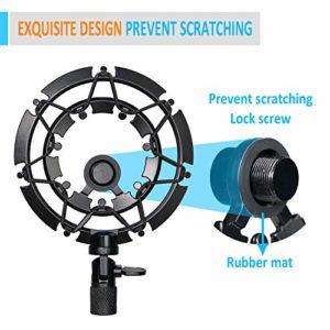 YOUSHARES Shock Mount pour Blue Yeti et Yeti Pro Microphone, alliage Shockmount réduit le bruit de vibration et améliore la qualité d'enregistrement
