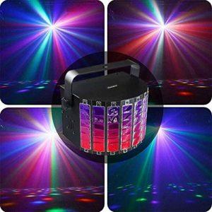 YXB Lumières Disco, 9 Couleurs LED promesse épée Papillon Barre Lumineuse KTV stroboscopique contrôle du Son Flash DJ scène lumière Disco A2